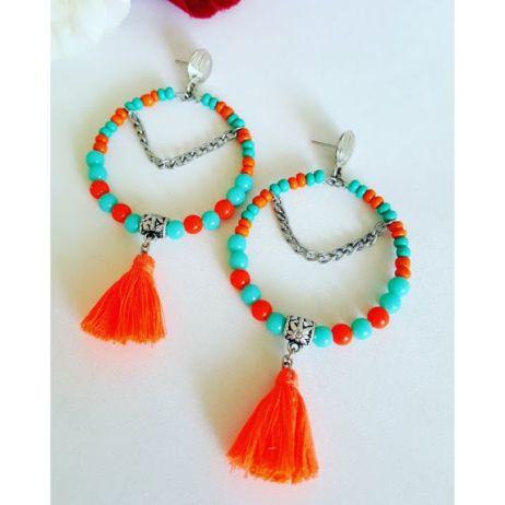 brinco-de-micangas-laranja-e-turquesa-com-tassel-br02-900x700